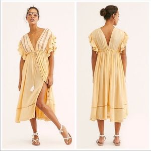 NWT FP Will Wait For You Midi Dress in Nature